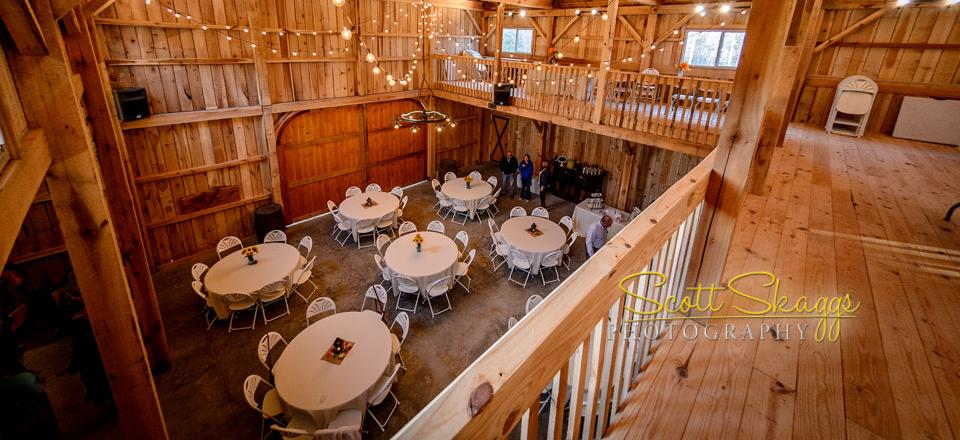 You will be able to enjoy dancing, socializing, and preparing yourself for the wedding inside our spacious barn.